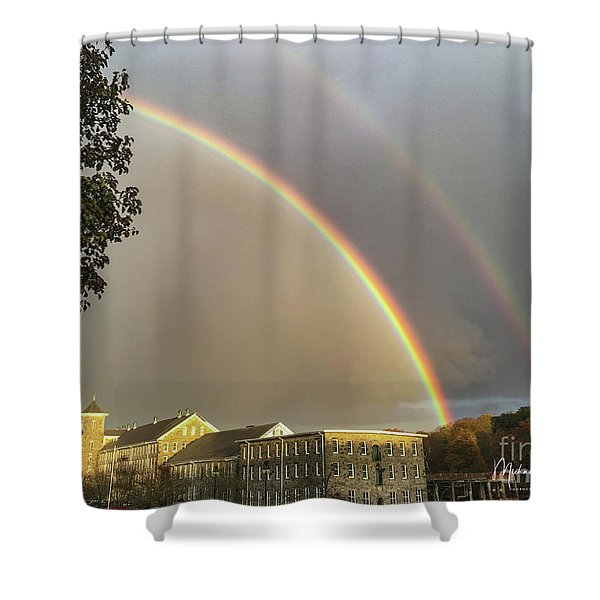 Thread City Double Rainbow  Shower Curtain