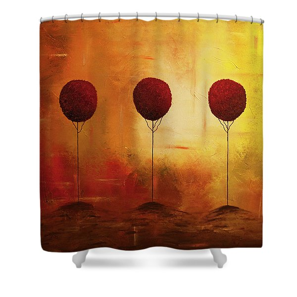 Three Alone But Together Shower Curtain