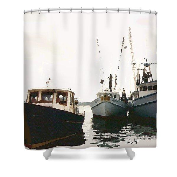 Three Boats Shower Curtain