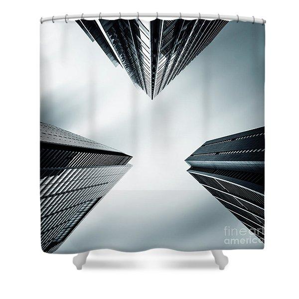Three Corners To The Sky Shower Curtain