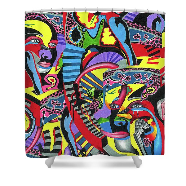 Three Disguises Of An Abstract Thought Shower Curtain