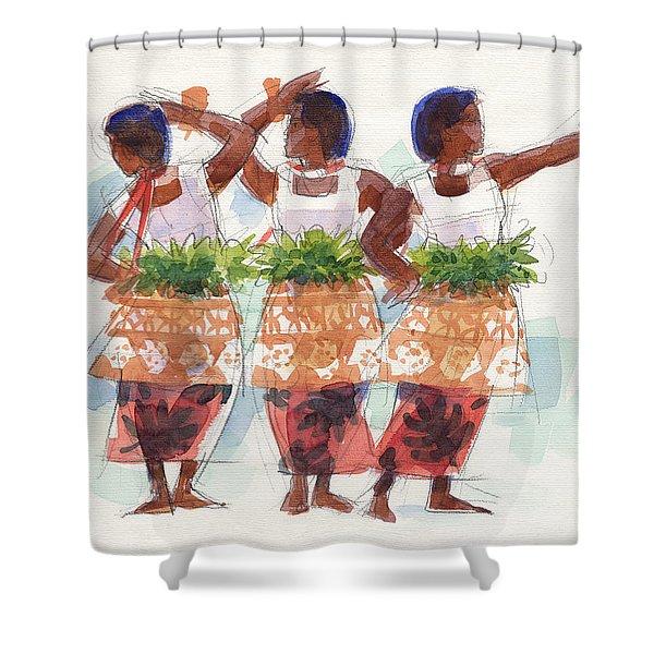 Three Fijian Dancers Shower Curtain