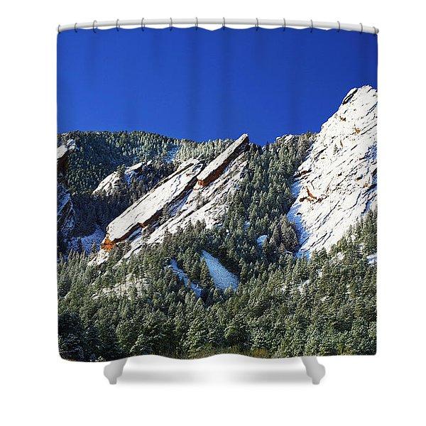 Three Flatirons Shower Curtain