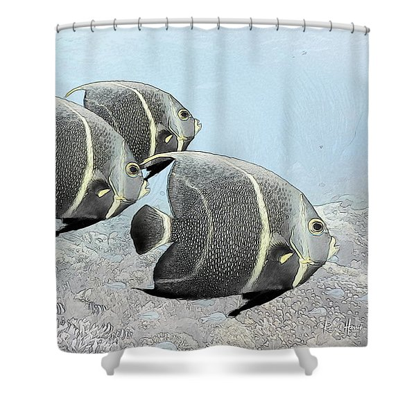 Three French Angels Shower Curtain