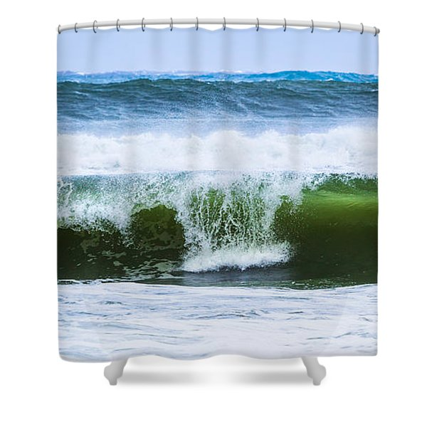 Three In A Row Shower Curtain