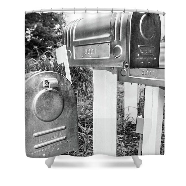 Three Mailboxes Shower Curtain