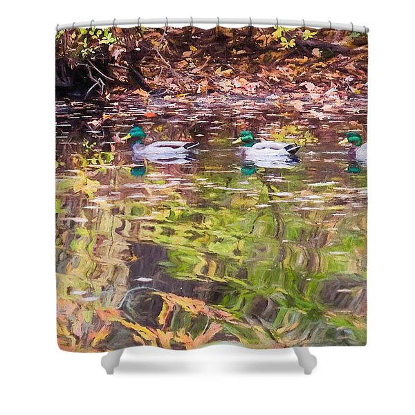 Three Mallards. Shower Curtain