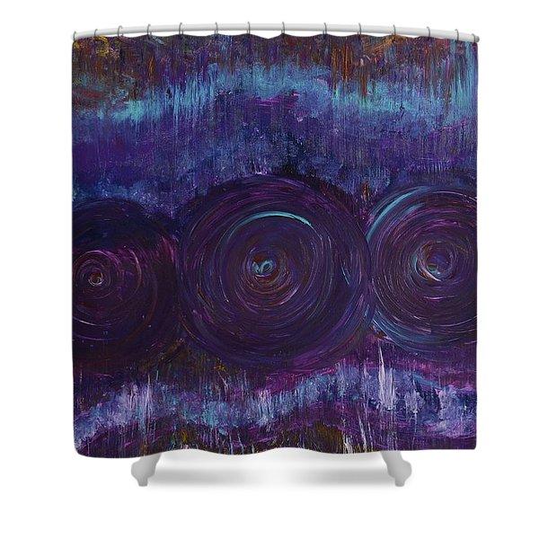 Three Mandalas Shower Curtain