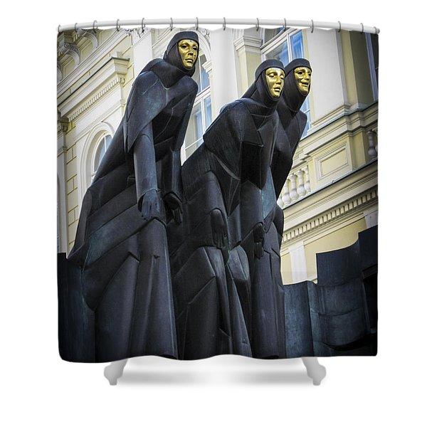 Three Muses - Calliope Thalia And Melpomene Shower Curtain