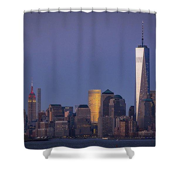 Three New York Symbols Shower Curtain