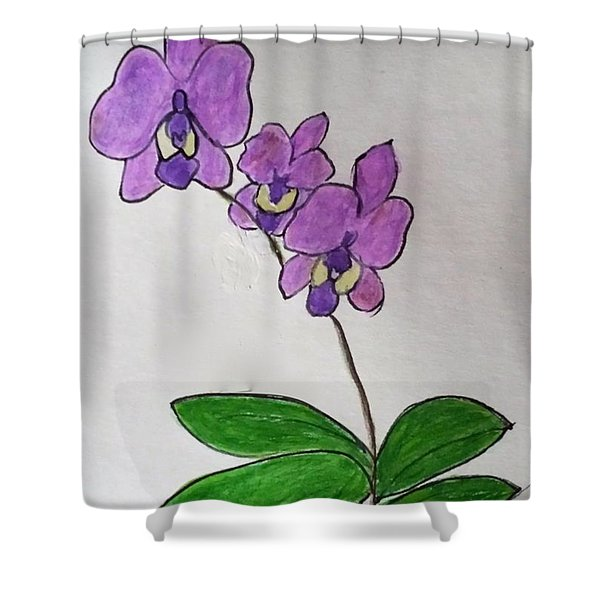 Three Orchids Shower Curtain