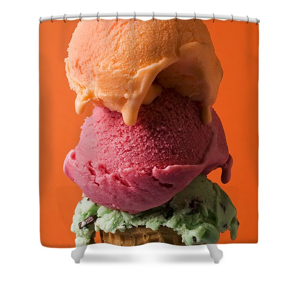 Three Scoops  Shower Curtain