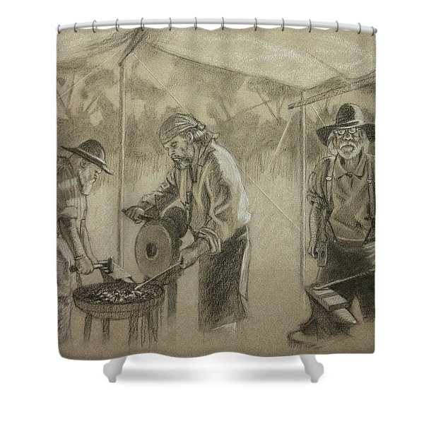 Three Smiths Shower Curtain