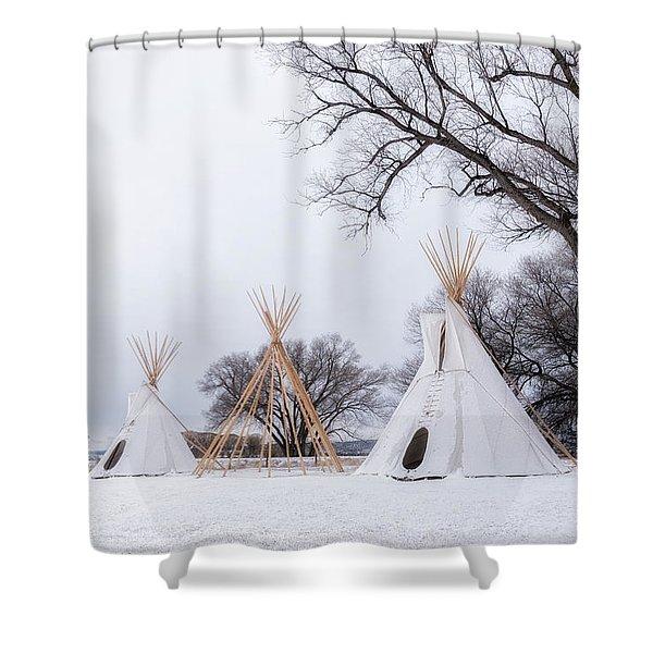 Three Tipis Shower Curtain