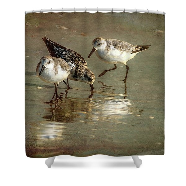 Three Together Shower Curtain