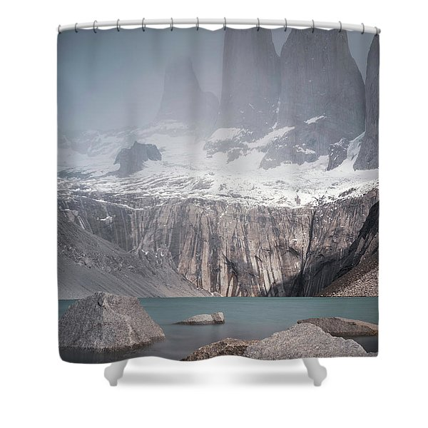 Three Towers, Chile Shower Curtain