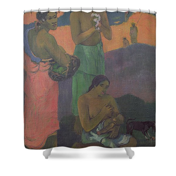 Three Women On The Seashore Shower Curtain