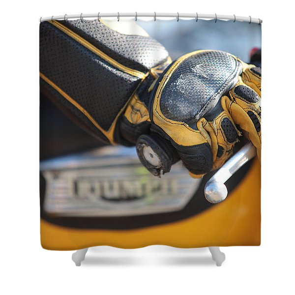 Throttle Hand Shower Curtain