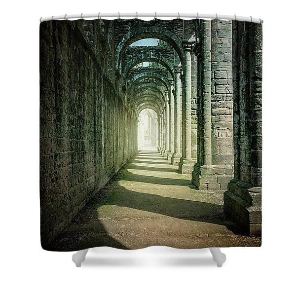 Through The Colonnade Shower Curtain