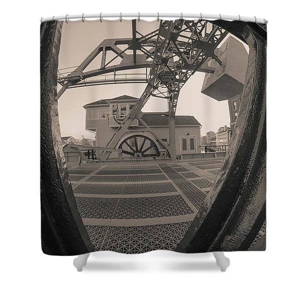 Through The Gear In Mystic Ct Shower Curtain