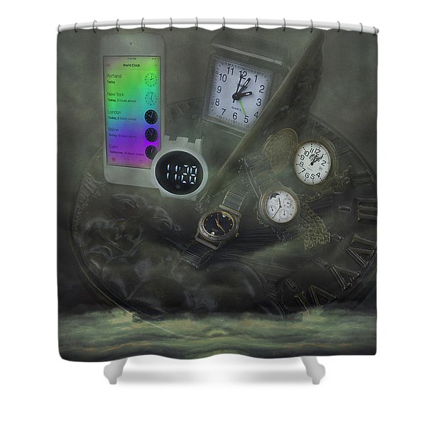 Through The Mists Of Time Shower Curtain