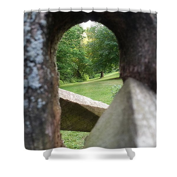 Through The Post Shower Curtain