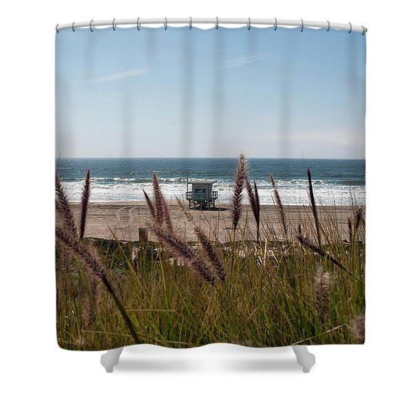 Shower Curtain featuring the photograph Through The Reeds by Lorraine Devon Wilke