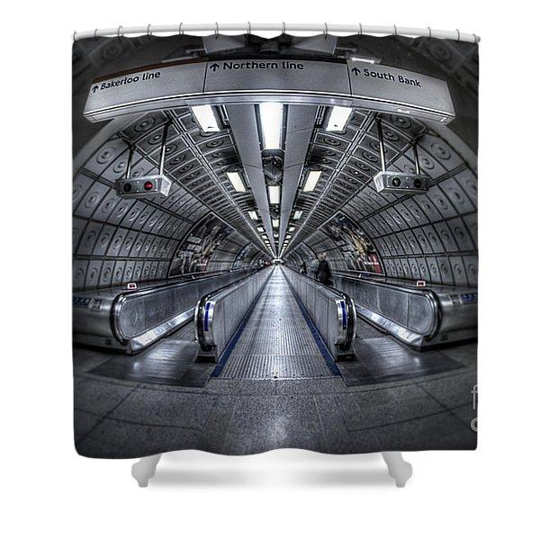 Through The Tunnel Shower Curtain