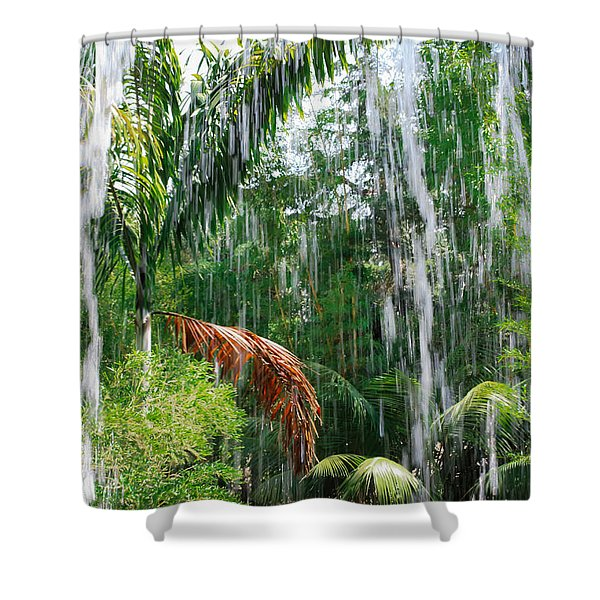 Through The Waterfall Shower Curtain