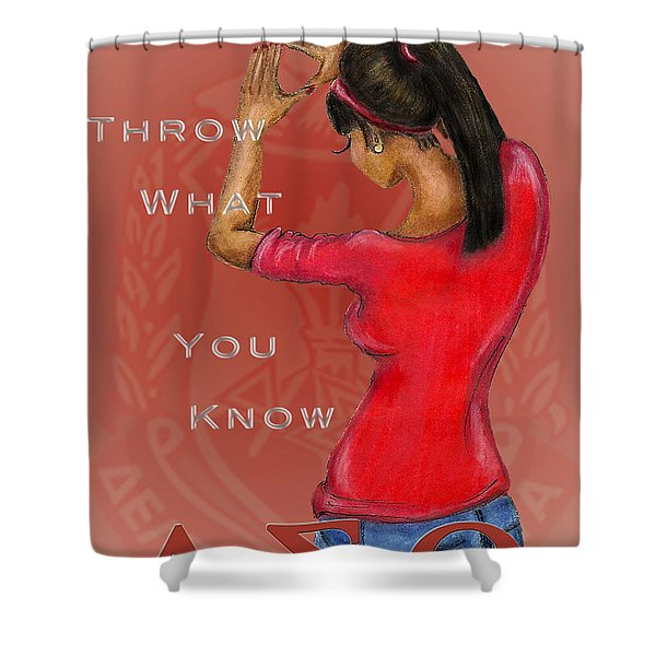 Throw What You Know Series - Delta Sigma Theta 2 Shower Curtain