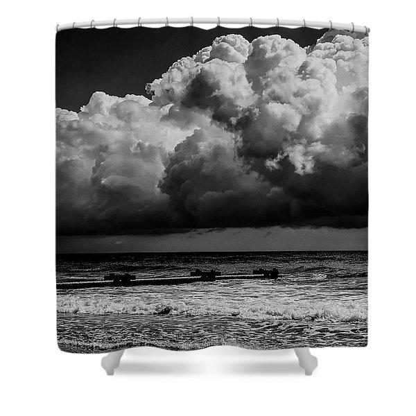 Thunder Head By The Sea Shower Curtain