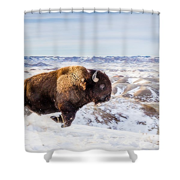 Thunder In The Snow Shower Curtain