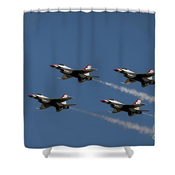 Shower Curtain featuring the photograph Thunderbirds Dsc6413 by Andrea Silies