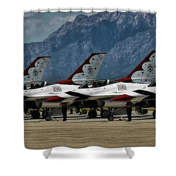 Thunderbirds Ready Shower Curtain