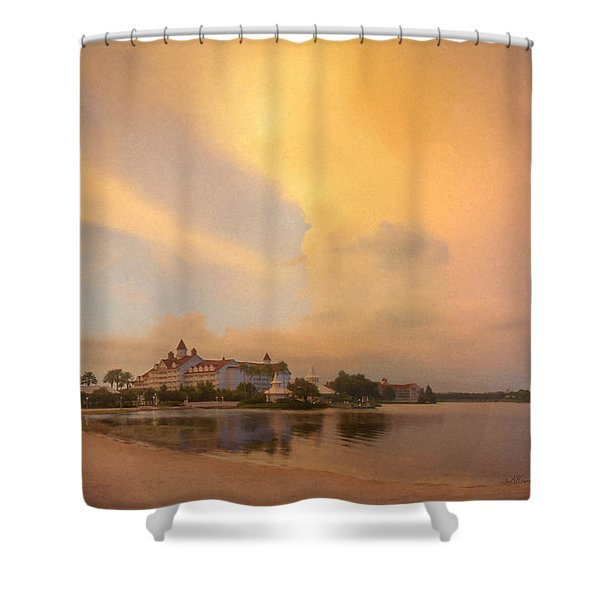 Thunderstorm Over Disney Grand Floridian Resort Shower Curtain