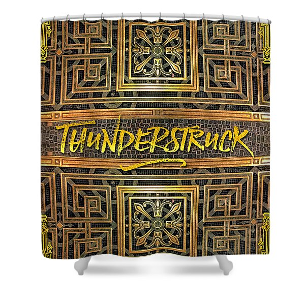 Thunderstruck Opera Garnier Ornate Mosaic Floor Paris France Shower Curtain