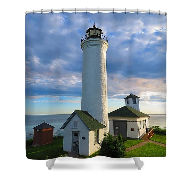 Tibbetts Point Lighthouse In June Shower Curtain