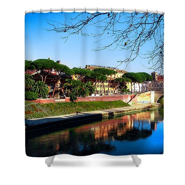 Tiber Island Shower Curtain