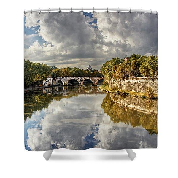 Tiber Morning Shower Curtain
