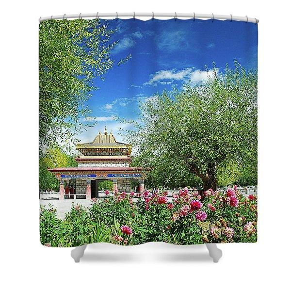 Tibet Scenery In Autumn Shower Curtain