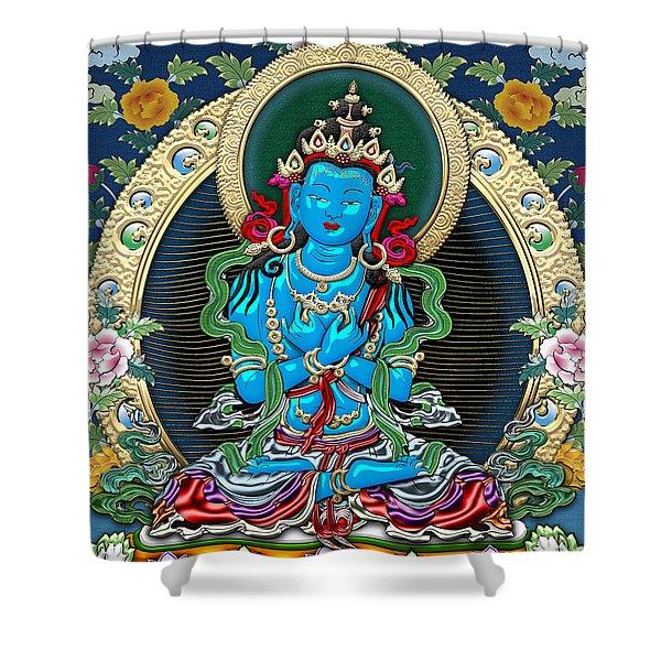 Tibetan Thangka -  Vajradhara Shower Curtain