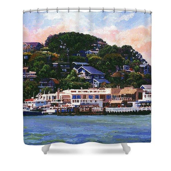 Tiburon California Waterfront Shower Curtain