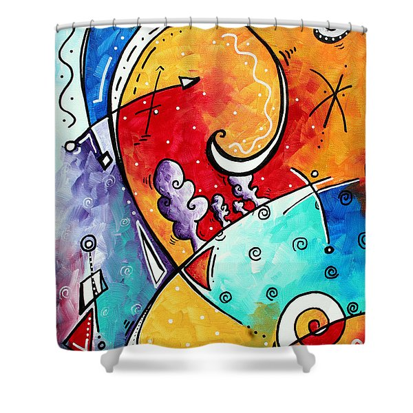 Tickle My Fancy Original Whimsical Painting Shower Curtain
