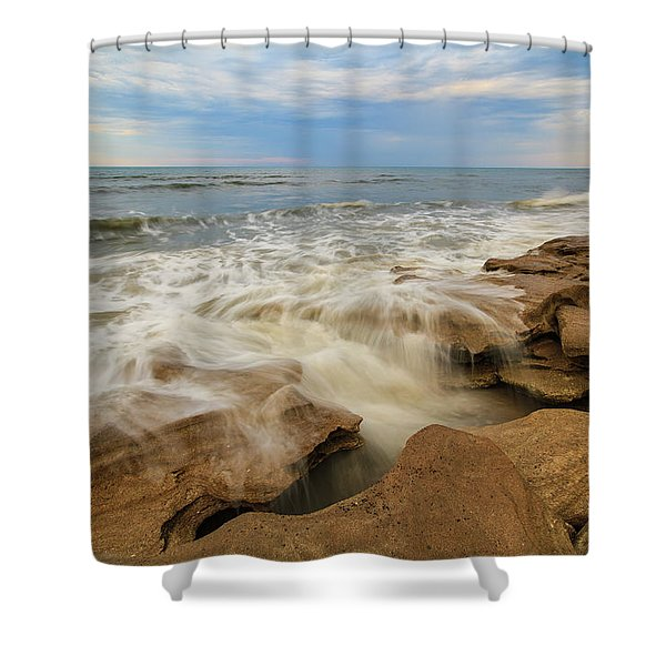 Tidal Flow Shower Curtain