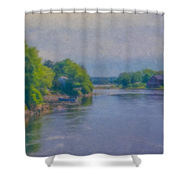 Tidal Inlet In Southern Maine Shower Curtain