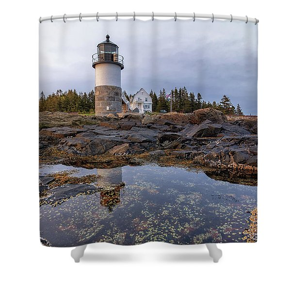 Tide Pools At Marshall Point Lighthouse Shower Curtain