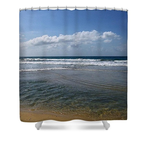 Tides And Skies. Shower Curtain