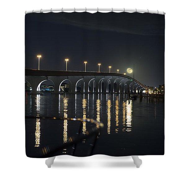 Tierra Verde Bridge Shower Curtain