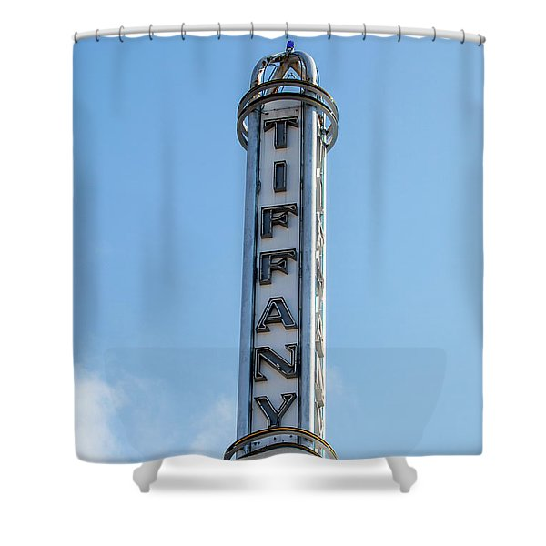 Tiffany Tower - Miami Beach Shower Curtain