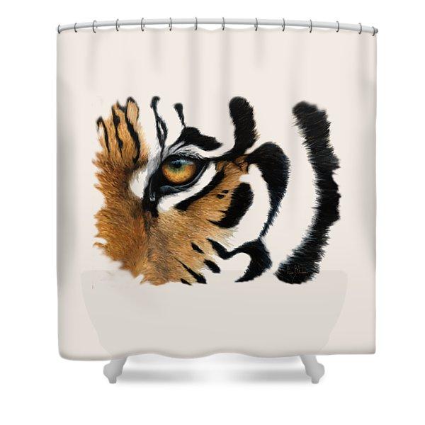 Tiger Eye Shower Curtain